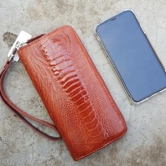 Long-Genuine-Ostrich-skin-wallet-for-women